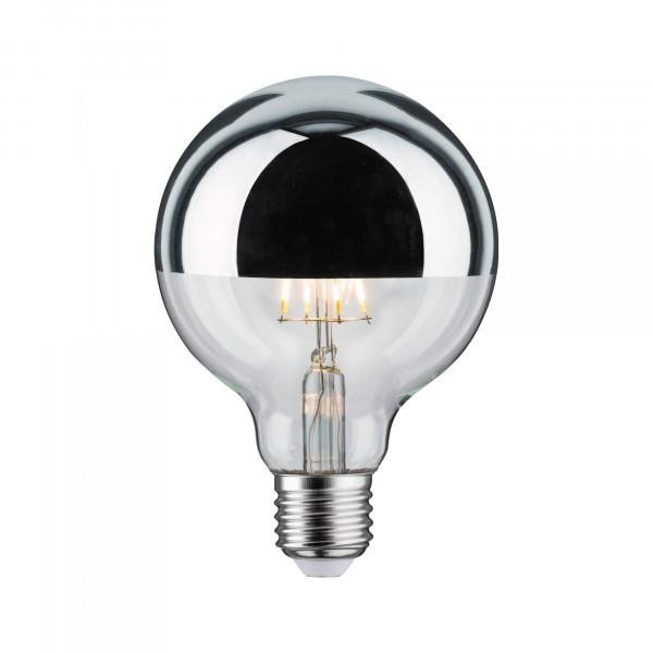 LED Globe 95 Kopspiegel Chroom 6W E27 Warmwit dimbaar