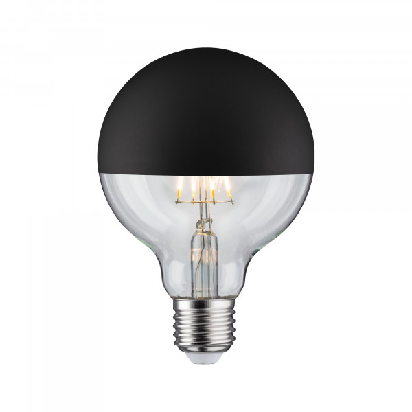 LED Globe 95 Kopspiegel Zwart mat 5W E27 Warmwit dimbaar