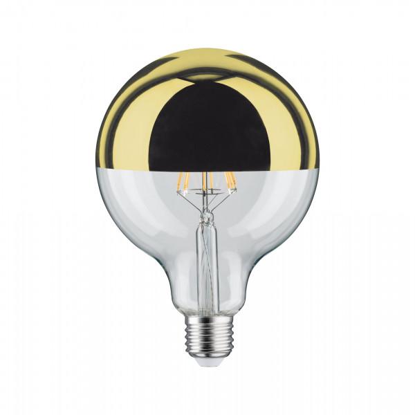 LED Globe 125 Kopspiegel Goudkleur 5W E27 Warmwit dimbaar