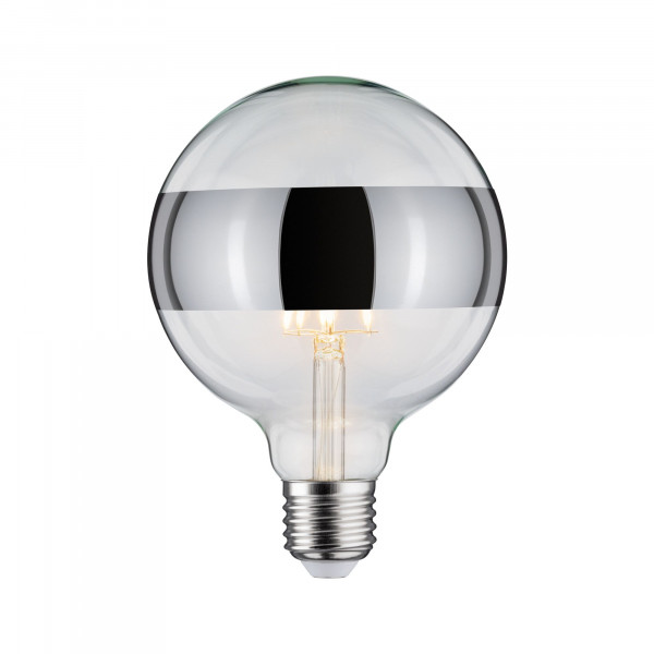 LED Globe 125 Ringspiegel Chroom 5W E27 Warmwit dimbaar