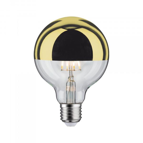 LED Globe 95 Kopspiegel Goukleur 5W E27 Warmwit dimbaar