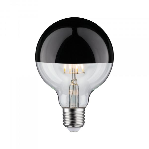 LED Globe 95 Kopspiegel Zwart glans 5W E27 Warmwit dimbaar