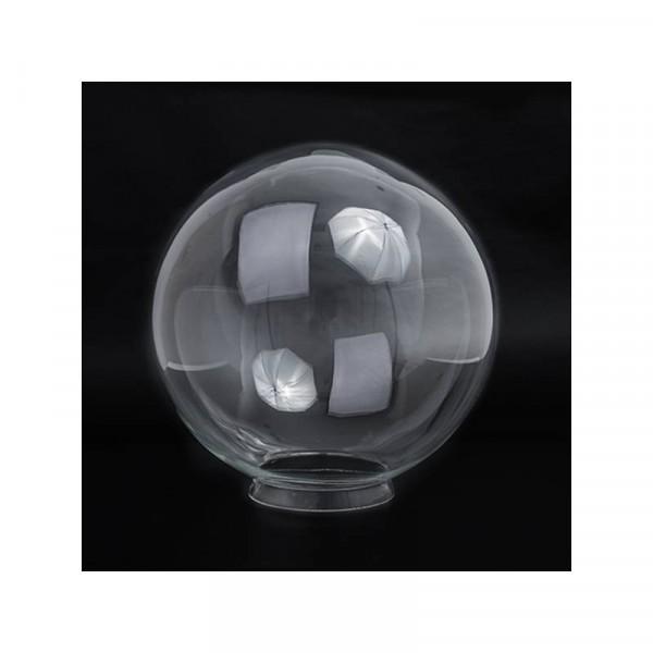 Glasbol met kraag verkrijgbaar in Helder, Opaal, Opaal mat, Helder met bubble